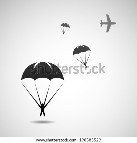 Parachute sport illustration. Eps10 - stock vector