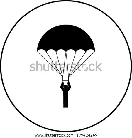 parachutist symbol - stock vector