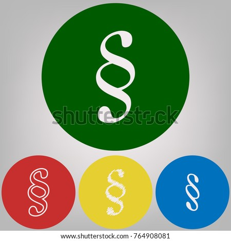 Paragraph Sign Illustration Vector 4 White Stock Vector 764908081