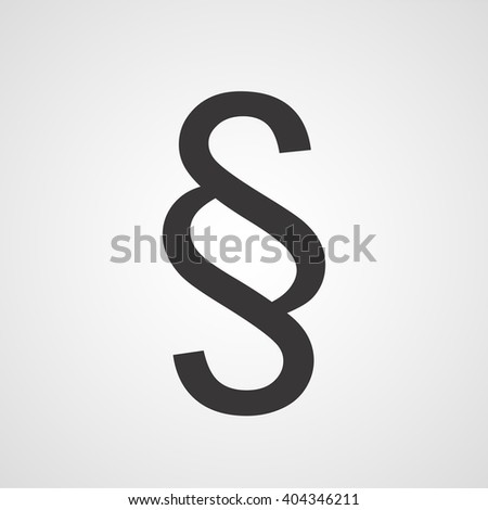 Paragraph Symbol Section Vector Icon Stock Vector 2018 404346211