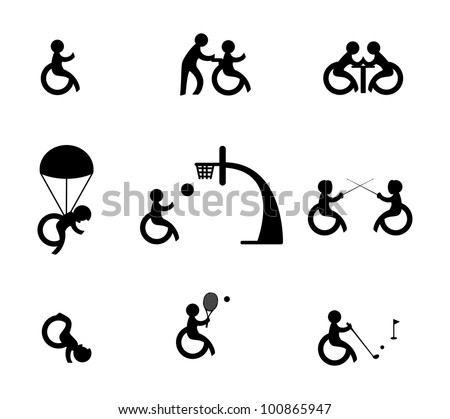 Paralympic athlete or sports for disabled