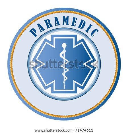 Paramedic seal or patch -add your own text - stock vector