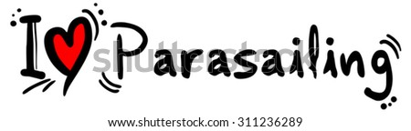 Parasailing love - stock vector
