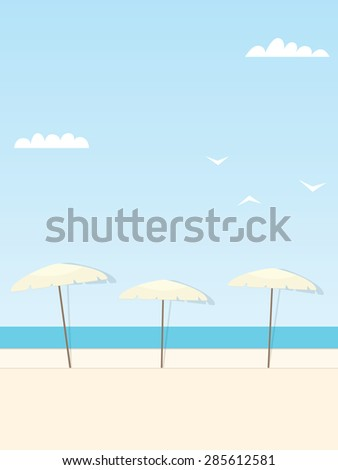 Parasols - stock vector