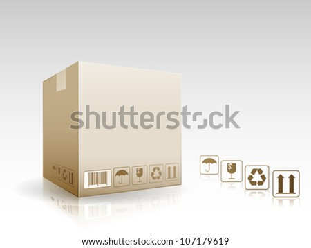 Parcel box delivery - stock vector