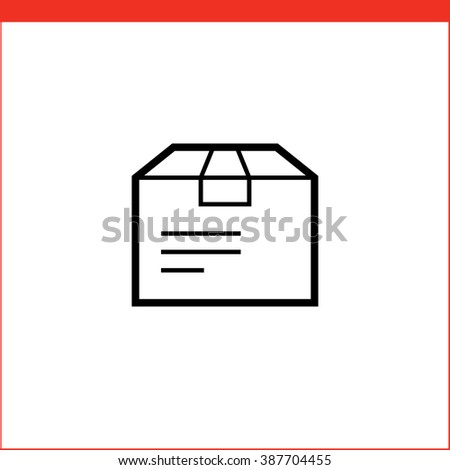 Parcel package box icon. Vector icon for logistic company - stock vector