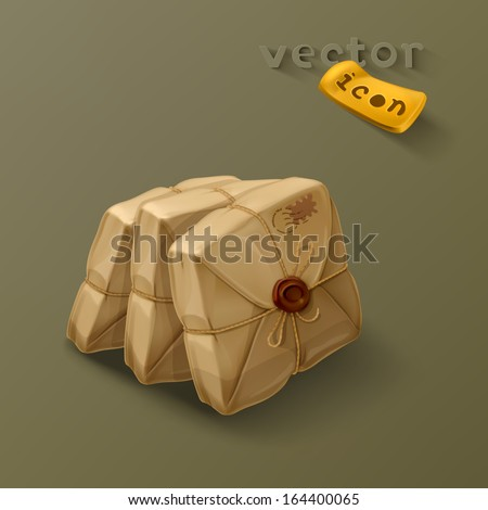 Parcel post icon - stock vector