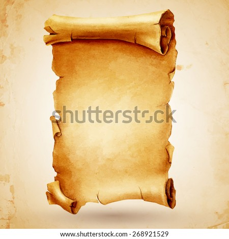parchment - stock vector