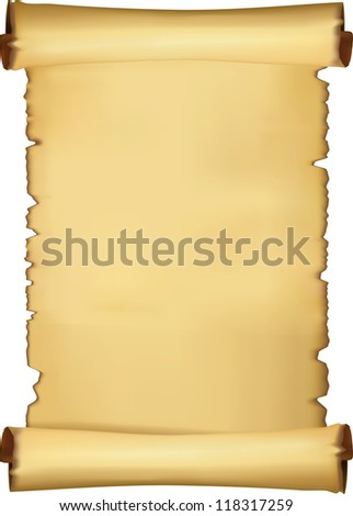 Parchment blank - stock vector