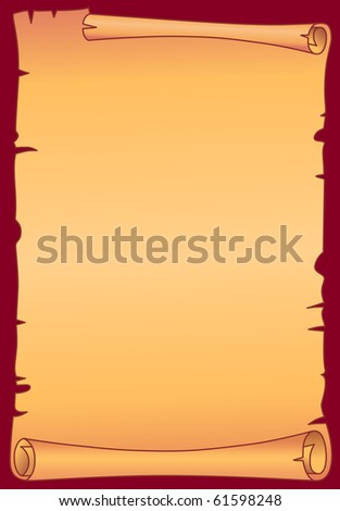Parchment scroll - stock vector