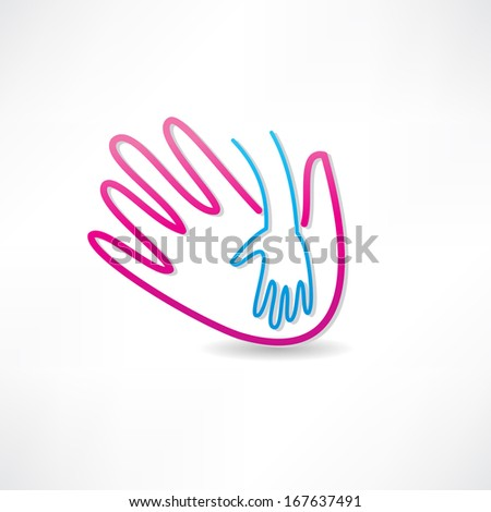 parental hand icon - stock vector