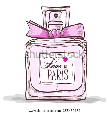 Parfume love in paris. Paris  love design.  - stock vector