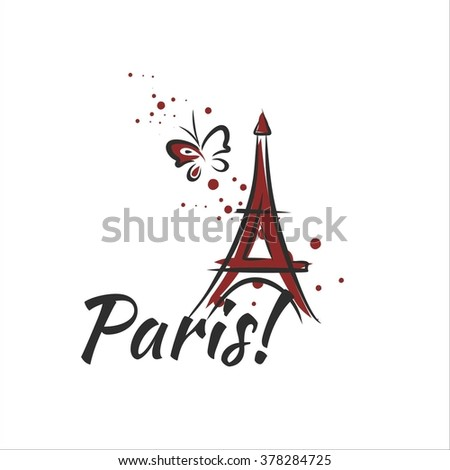 Paris - stock vector