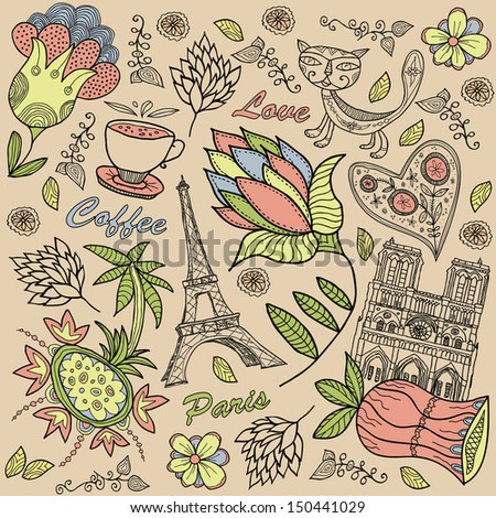 Paris background. - stock vector