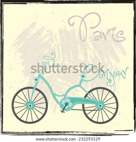 Paris Bike - stock vector