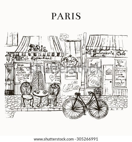 Paris cafe - stock vector