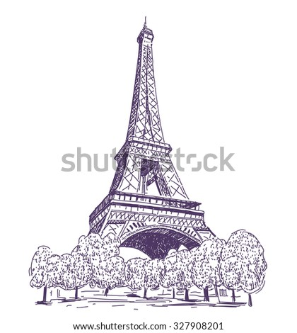 Paris eiffel tower vector drawing stock vector 327908201 shutterstock paris eiffel tower vector drawing thecheapjerseys Gallery