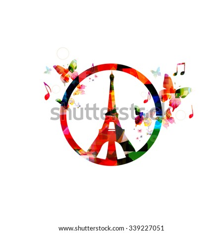 PARIS, FRANCE - NOV 13, 2015: Support for France - stock vector