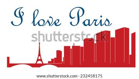Paris, France (Skyline) - stock vector