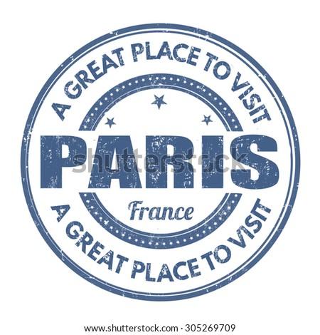 Paris grunge rubber stamp on white background, vector illustration - stock vector