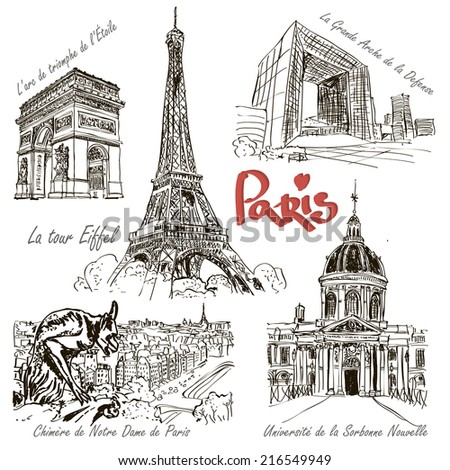 Paris - hand drawn architecture.