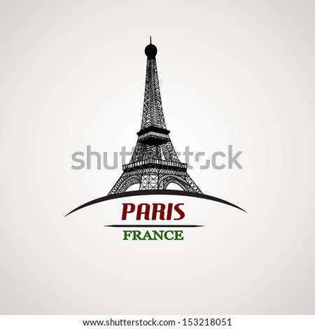 Paris in vintage style poster, vector illustration - stock vector