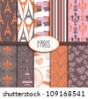 Paris Pattern Collection - stock photo