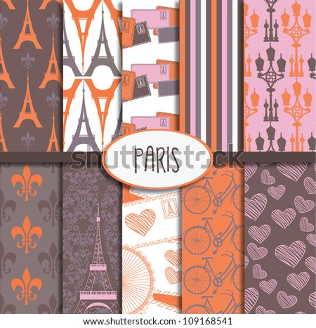 Paris Pattern Collection - stock vector