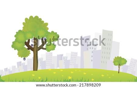 park - stock vector