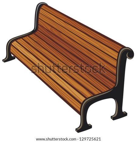 park bench - stock vector