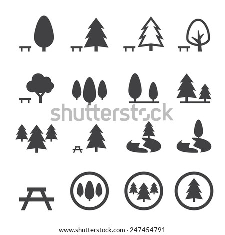 park icon - stock vector