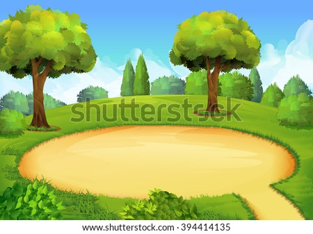 Park, playground, vector background - stock vector