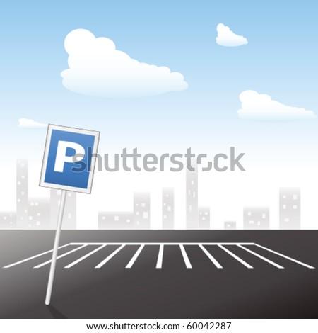 parking area - stock vector