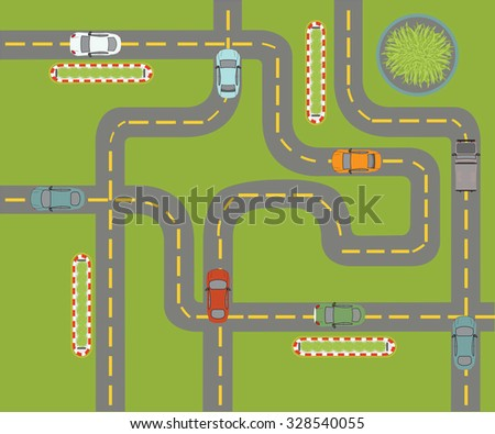 Parking design with auto car over green background, vector illustration.