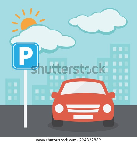 Parking Illustration - stock vector
