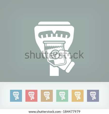 Parking meter ticket - stock vector