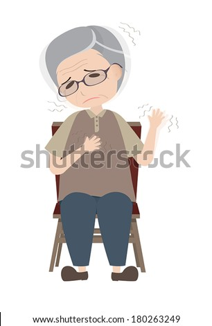 Parkinson's disease patient with dyskinesia symptom - stock vector