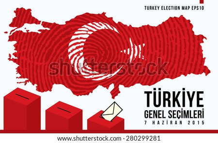 Parliamentary elections in Turkey 2015. English:TURKEY GENERAL ELECTIONS - JUNE 7.