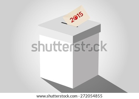 Parliamentary elections in Turkey 2015. Turkish symbol and white election ballot box for collecting votes in a white background. - stock vector