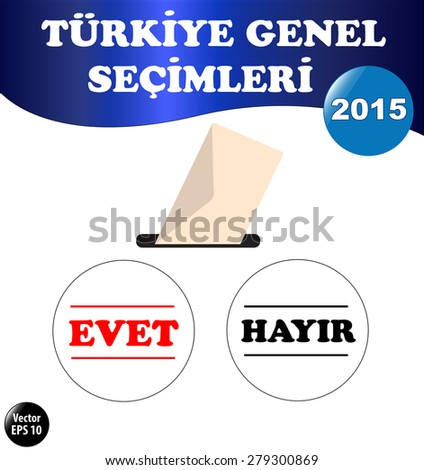Parliamentary elections in Turkey 2015. Vote Illustration. Stock Vector.