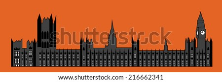 Parliaments House, London - stock vector
