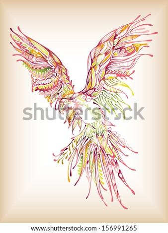 Parrot Abstract - stock vector