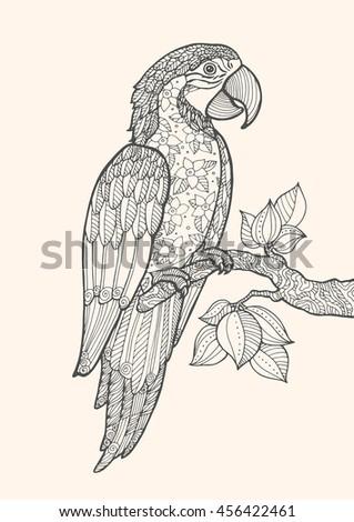 Heron Wild Plants Elements Nature Stock Vector 357480062