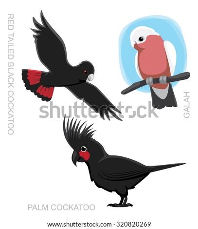 Parrot Australian Cockatoo Cartoon Vector Illustration - stock vector