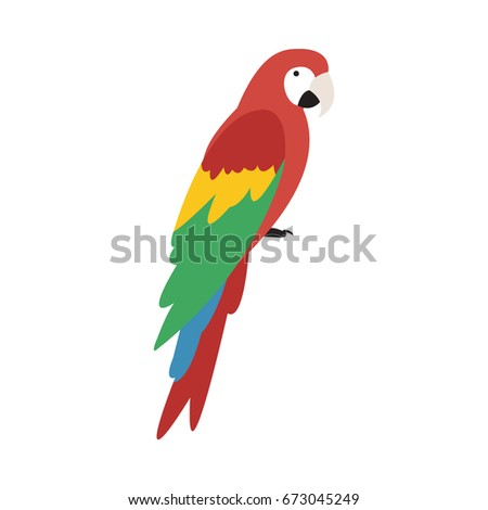 parrot icon in flat style isolated vector illustration on white transparent background