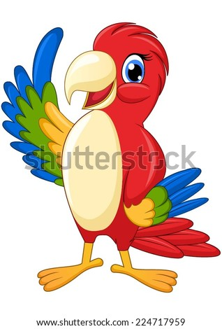 Parrot macaw from the Amazon rainforest - stock vector