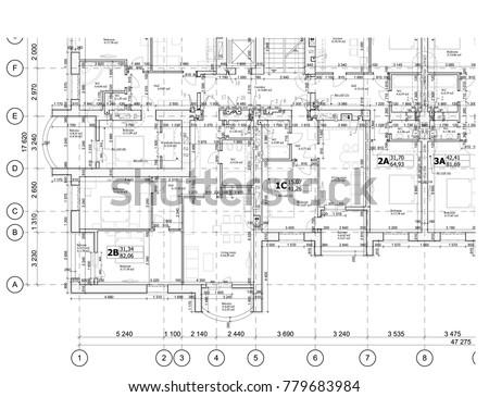 Part detailed architectural plan floor plan stock vector 2018 part of a detailed architectural plan floor plan layout blueprint vector illustration malvernweather Image collections