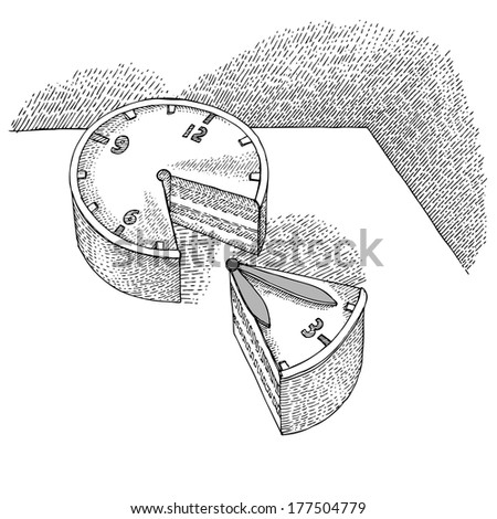 Part of the Clock - stock vector