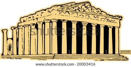 parthenon greece vector clipart stock vector hd royalty free rh shutterstock com Pantheon Clip Art Greek Clip Art