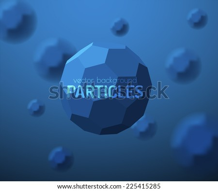Particles background. Vector eps10. - stock vector